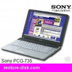 Notebook, Laptop SONY PCG-735